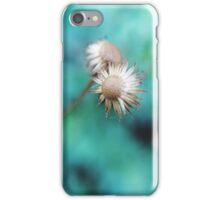 In a green blurry background iPhone Case/Skin