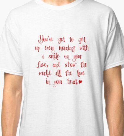 """Beautiful"" (Carole King) lyrics Classic T-Shirt"