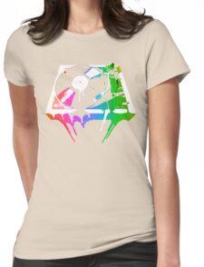 Melting Turntable (vintage distressed look) Womens Fitted T-Shirt