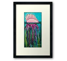 Portuguese Man-O-War Jellyfish Framed Print