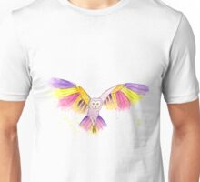 Number 10 in my series of strange birds is the Oogling Multi-Colored Owl Unisex T-Shirt