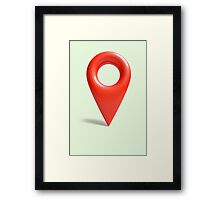 Don't get lost Framed Print