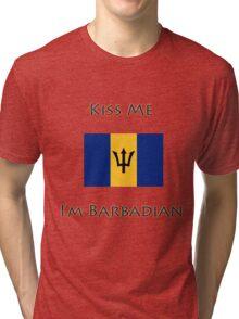 Kiss Me I'm Barbadian Tri-blend T-Shirt