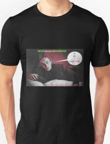 "'Count Orlock, the Vampire #4', FROM THE FILM "" Nosferatu vs. Father Pipecock & Sister Funk (2014)"" Unisex T-Shirt"