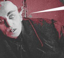 """'Count Orlock, the Vampire #4', FROM THE FILM """" Nosferatu vs. Father Pipecock & Sister Funk (2014)"""" Sticker"""