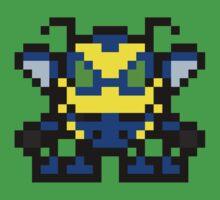 Pixel Buck Bumble Kids Tee
