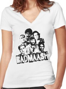 Bollywood Classic Villains Women's Fitted V-Neck T-Shirt
