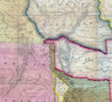 Vintage Map of The Western United States (1846)  Sticker