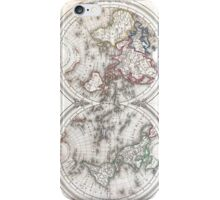 Vintage Map of The World (1848)  iPhone Case/Skin