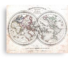 Vintage Map of The World (1848)  Metal Print