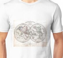 Vintage Map of The World (1848)  Unisex T-Shirt