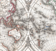Vintage Map of The World (1848)  Sticker