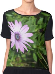 Purple Flower Chiffon Top