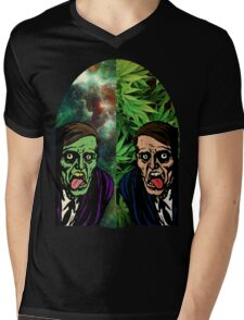 2 Faced Mens V-Neck T-Shirt