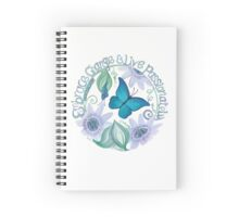 Butterfly and Passion Flowers Spiral Notebook