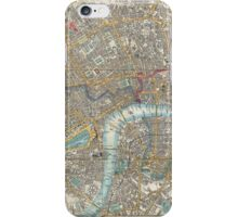 Vintage Map of London (1848) iPhone Case/Skin