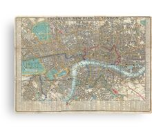 Vintage Map of London (1848) Canvas Print