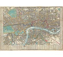 Vintage Map of London (1848) Photographic Print