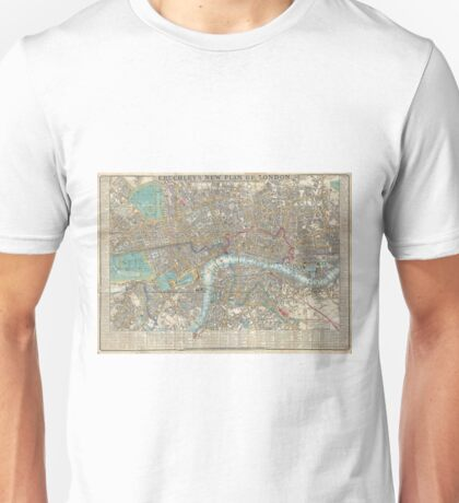 Vintage Map of London (1848) Unisex T-Shirt