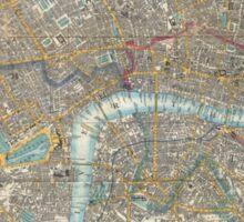 Vintage Map of London (1848) Sticker