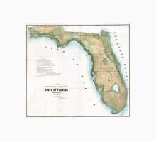 Vintage Map of Florida (1848)  Unisex T-Shirt