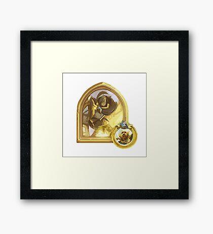 Simple Golden Paladin Framed Print