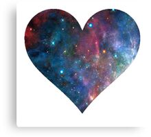 Cosmic Heart Canvas Print