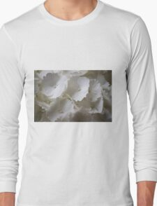 white hydrangea Long Sleeve T-Shirt