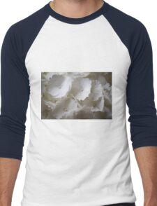 white hydrangea Men's Baseball ¾ T-Shirt