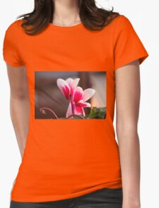 cyclamen in spring Womens Fitted T-Shirt