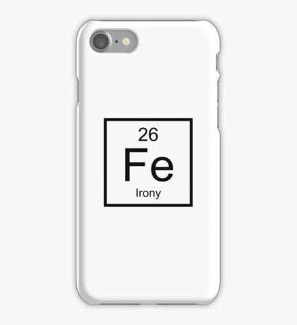 Irony Element iPhone Case/Skin