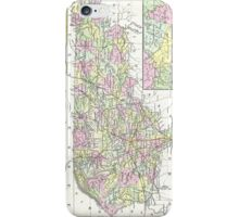 Vintage Map of Kentucky (1850)  iPhone Case/Skin