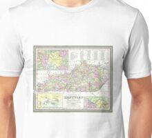 Vintage Map of Kentucky (1850)  Unisex T-Shirt