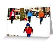 """Don't Run Over that Man with a Camera""... prints and products Greeting Card"
