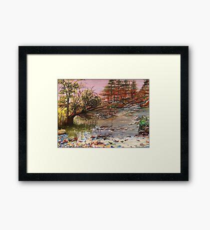 River flows Framed Print