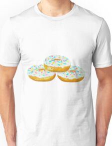 Three Delicious Donuts Unisex T-Shirt