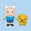 Adventure kids Finn and Jake by enriquev242