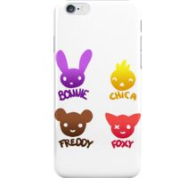 Bonnie, Chica, Foxy and Freddy iPhone Case/Skin