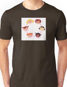 Girls circle : Woman IT Crowd fashion illustration by Guothova Unisex T-Shirt