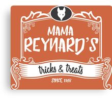 Mama Reynard's Tricks & Treats Canvas Print
