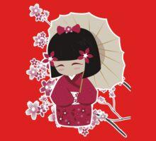 Sakura Kokeshi Doll by Yelitza Velez