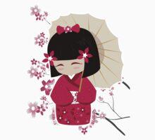 Sakura Kokeshi Doll Baby Tee