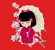Sakura Kokeshi Doll Womens Fitted T-Shirt