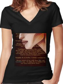 Blue and Beautiful Women's Fitted V-Neck T-Shirt