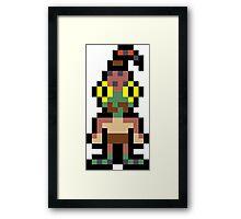 Pixel Abe Framed Print