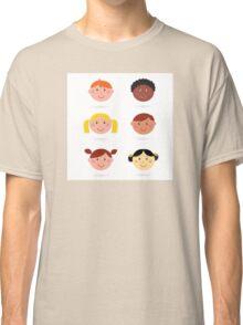 Original hand-drawn kids illustration / multicultural theme Classic T-Shirt