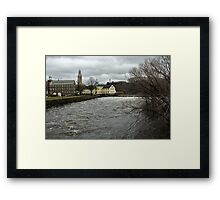 Slater Mill in Winter Framed Print