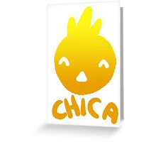 Chica the Chicken Greeting Card