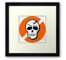 Picto Halloween - Skull Framed Print