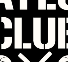 Baylor Club Black and White Sticker